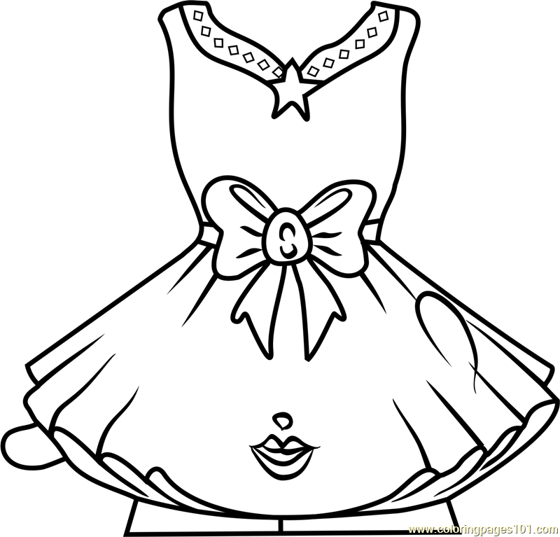 tutucute shopkins coloring page