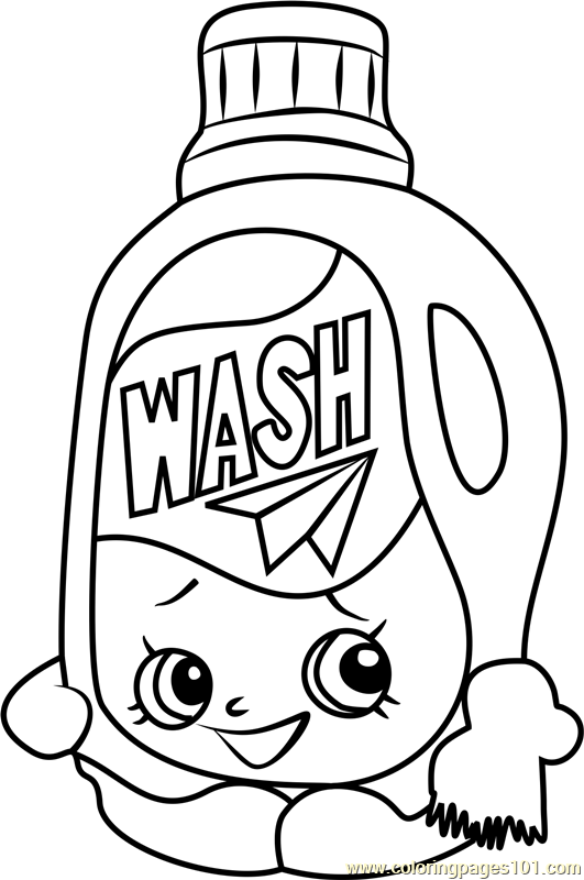 Wendy Washer Shopkins Coloring