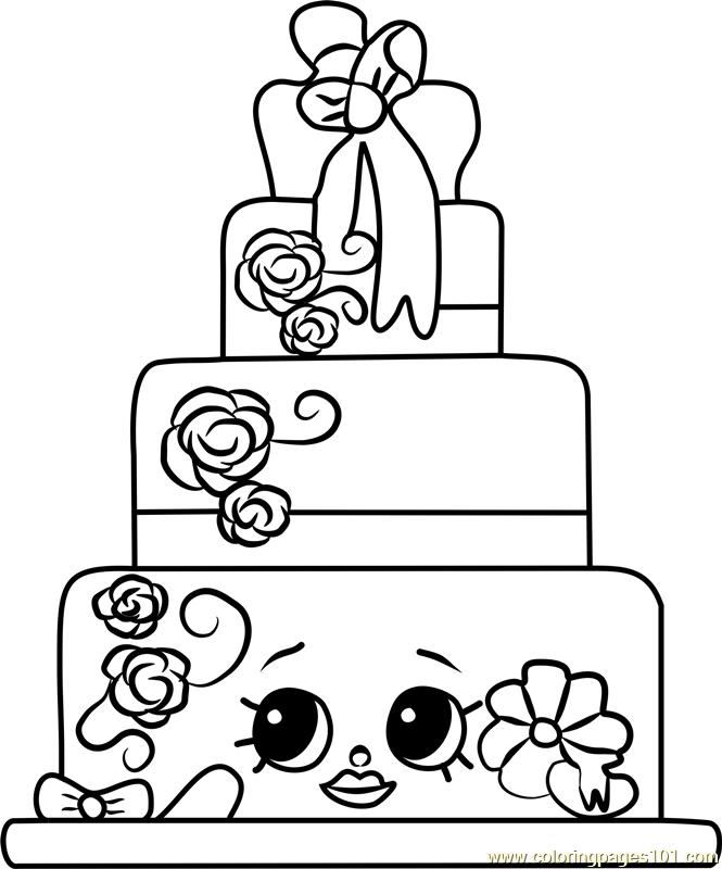 Wendy Wedding Cake Shopkins Coloring Page Free Shopkins Coloring Pages Coloringpages101 Com