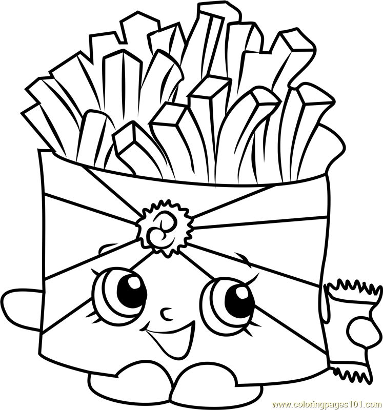 Wise Fry Shopkins Coloring Page Free Shopkins Coloring Pages Wise Coloring Page