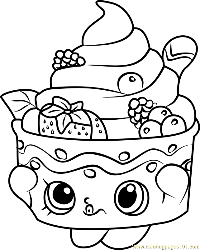 Shopkin All The Characters Coloring Page Coloring Pages