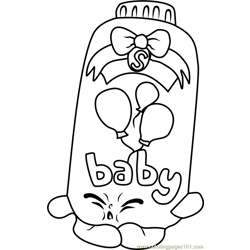Baby Puff Shopkins Free Coloring Page for Kids