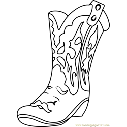 Betty Boot Shopkins Free Coloring Page for Kids