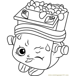Breaky Crunch Shopkins Free Coloring Page for Kids