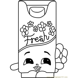 Bree Freshner Shopkins Free Coloring Page for Kids