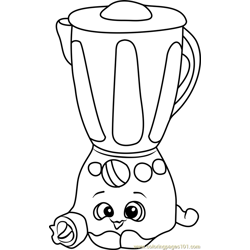 Brenda Blenda Shopkins Free Coloring Page for Kids
