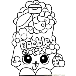 Bubble Tubs Shopkins Free Coloring Page for Kids