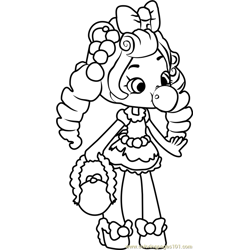 Bubbleisha Shopkins Free Coloring Page for Kids