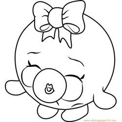 Bubbles Shopkins Free Coloring Page for Kids