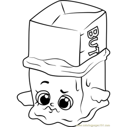 Buttercup Shopkins Free Coloring Page for Kids