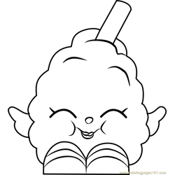 Candi Cotton Shopkins Free Coloring Page for Kids