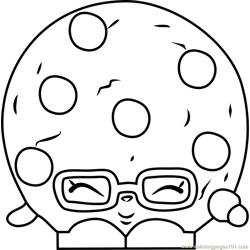 Candy Cookie Shopkins Free Coloring Page for Kids