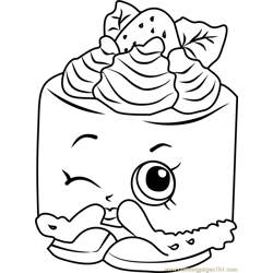 Cheese Louise Shopkins Free Coloring Page for Kids