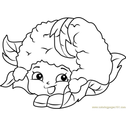 Chloe Flower Shopkins Free Coloring Page for Kids