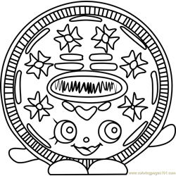 Cream E Cookie Shopkins Free Coloring Page for Kids