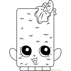 Fishtix Shopkins Free Coloring Page for Kids