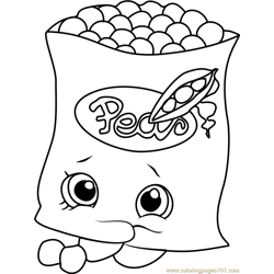 Freezy Peazy Shopkins Free Coloring Page for Kids