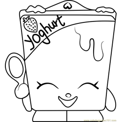 Ghurty Shopkins Free Coloring Page for Kids