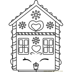 Ginger Fred Shopkins Free Coloring Page for Kids