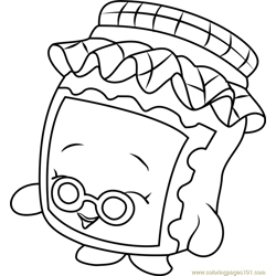 Gran Jam Shopkins Free Coloring Page for Kids