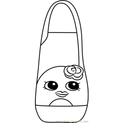 Hi Shopkins Free Coloring Page for Kids