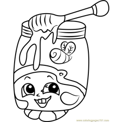 Honeeey Shopkins Free Coloring Page for Kids