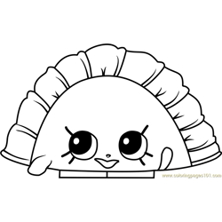 Humpty Dumpling Shopkins Free Coloring Page for Kids