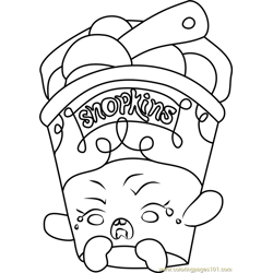 Ice Cream Dream Shopkins Free Coloring Page for Kids