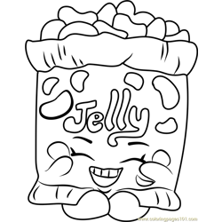Jelly B Shopkins Free Coloring Page for Kids