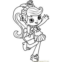 Jessicake Shopkins Free Coloring Page for Kids