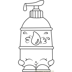 La' Lotion Shopkins Free Coloring Page for Kids