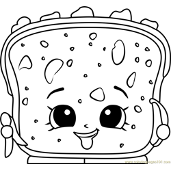 Lana Banana Bread Shopkins Free Coloring Page for Kids