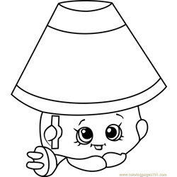 Lana Lamp Shopkins Free Coloring Page for Kids