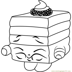 Le 'Quorice Shopkins Free Coloring Page for Kids
