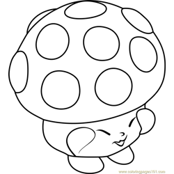 Miss Mushy-Moo Shopkins Free Coloring Page for Kids