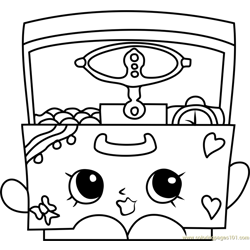 Music Box Shopkins Free Coloring Page for Kids