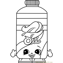 Olivia Oil Shopkins Free Coloring Page for Kids