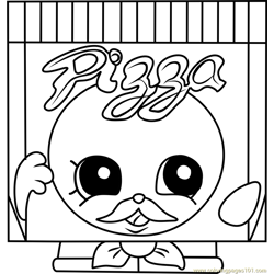 Pa' Pizza Shopkins Free Coloring Page for Kids