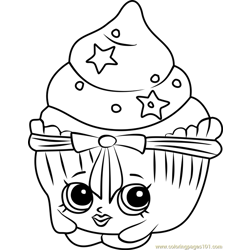 Patty Cake Shopkins Free Coloring Page for Kids