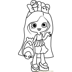 Peppa-mint Shopkins Free Coloring Page for Kids