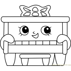 Piano Man Shopkins Free Coloring Page for Kids