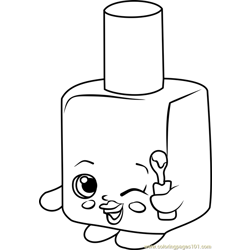Polly Polish Shopkins Free Coloring Page for Kids