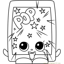 PopRock Shopkins Free Coloring Page for Kids
