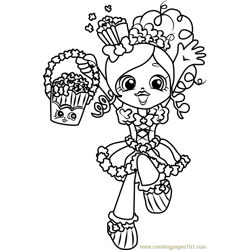 Popette Shopkins Free Coloring Page for Kids