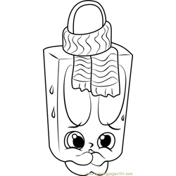 Popsi Cool Shopkins Free Coloring Page for Kids