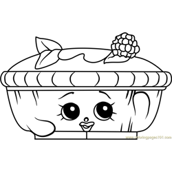 Queen of Tarts Shopkins Free Coloring Page for Kids
