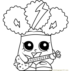 Rockin' Broc Shopkins Free Coloring Page for Kids