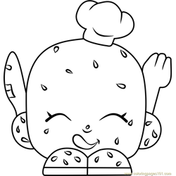 Rolly Roll Shopkins Free Coloring Page for Kids