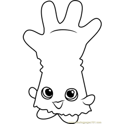 Rub-a-Glove Shopkins Free Coloring Page for Kids