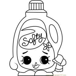 Sarah Softner Shopkins Free Coloring Page for Kids
